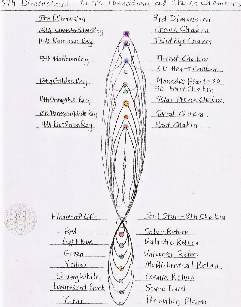 5D Auric Connections and Stasis Chambers