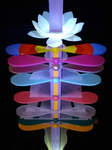 5D Chakra Column with Golden Orange Beam from Crown down