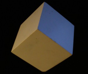 The cube transmits the element of Earth.