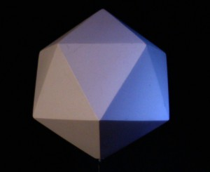 The Icosahedron transmits the element of water.