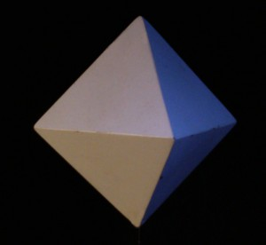 The octahedron transmits the element of air.