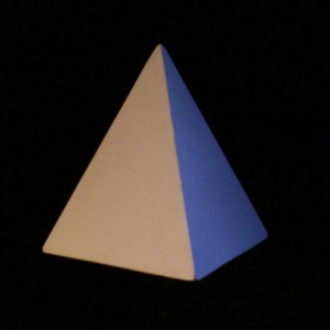 The tetrahedron transmits the element of fire.