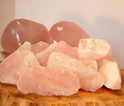 Rose quartz is a nurturer and promotes self-loving.