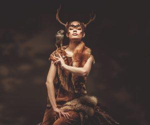 Native American medicine woman