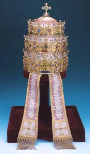 The gems of the Papal Tiara radiate a powerful presence