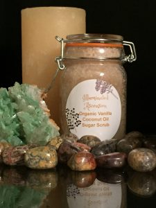 Organic Crystal Infused Vanilla and Coconut Oil Body Polish and Moisturizer